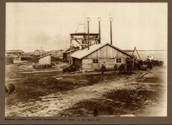 1913. Строительство моста через Зею в Алексеевске