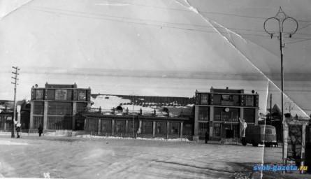 Здание старого вокзала г. Свободный, 1950-е гг.