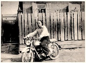 """Мотоцикл """"Москва"""", ул.Волочаевская, 2"""