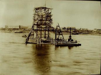Строительство моста через Зею, 1912-1914 гг.