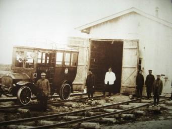 Паровозное депо Алексеевск. Гараж для автобусов на рельсовом ходу